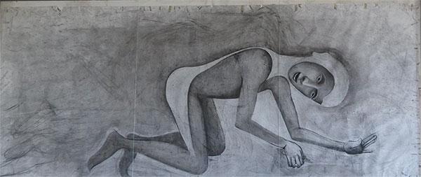 Homme allongé Matthew Monahan