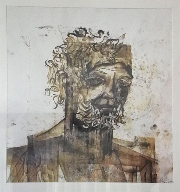 Portrait d'un homme barbu Matthew Monahan