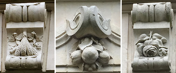 Domaine-du-Meunier sculptures façade