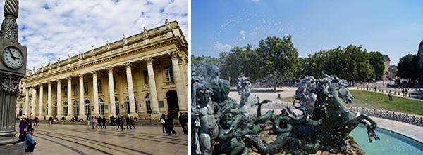 Quinconces et théatre de Bordeaux