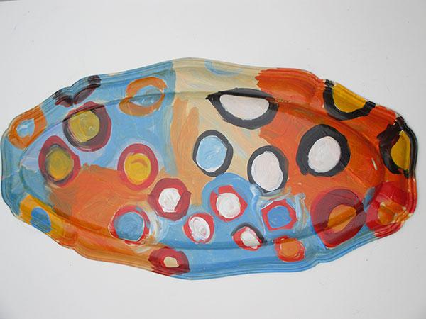 plat motif aborigène